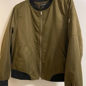 Forever21 Army Green Bomber Jacket